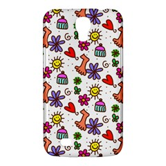 Cute Doodle Wallpaper Pattern Samsung Galaxy Mega 6 3  I9200 Hardshell Case by BangZart
