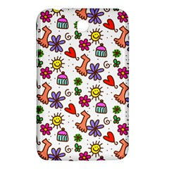 Cute Doodle Wallpaper Pattern Samsung Galaxy Tab 3 (7 ) P3200 Hardshell Case
