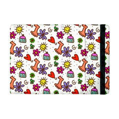 Cute Doodle Wallpaper Pattern Ipad Mini 2 Flip Cases by BangZart