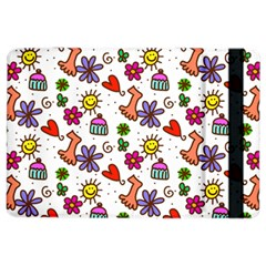 Cute Doodle Wallpaper Pattern Ipad Air 2 Flip by BangZart