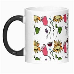 Handmade Pattern With Crazy Flowers Morph Mugs by BangZart