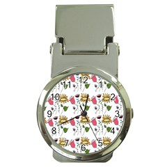 Handmade Pattern With Crazy Flowers Money Clip Watches by BangZart