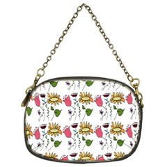 Handmade Pattern With Crazy Flowers Chain Purses (one Side)  by BangZart