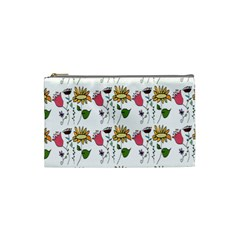 Handmade Pattern With Crazy Flowers Cosmetic Bag (small)  by BangZart