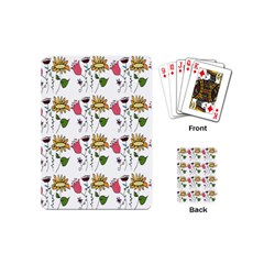 Handmade Pattern With Crazy Flowers Playing Cards (mini)  by BangZart