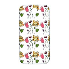 Handmade Pattern With Crazy Flowers Samsung Galaxy S4 I9500/i9505  Hardshell Back Case by BangZart