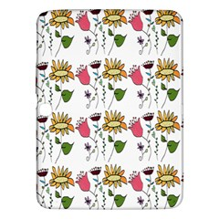 Handmade Pattern With Crazy Flowers Samsung Galaxy Tab 3 (10 1 ) P5200 Hardshell Case