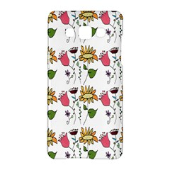 Handmade Pattern With Crazy Flowers Samsung Galaxy A5 Hardshell Case