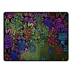Grunge Rose Background Pattern Fleece Blanket (small) by BangZart