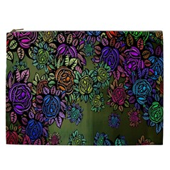 Grunge Rose Background Pattern Cosmetic Bag (xxl)  by BangZart