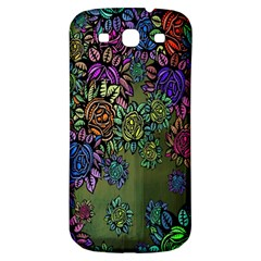 Grunge Rose Background Pattern Samsung Galaxy S3 S Iii Classic Hardshell Back Case by BangZart