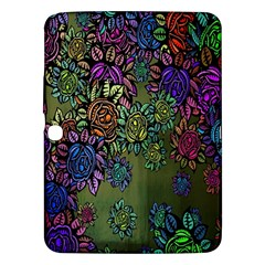 Grunge Rose Background Pattern Samsung Galaxy Tab 3 (10 1 ) P5200 Hardshell Case  by BangZart