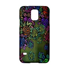 Grunge Rose Background Pattern Samsung Galaxy S5 Hardshell Case  by BangZart
