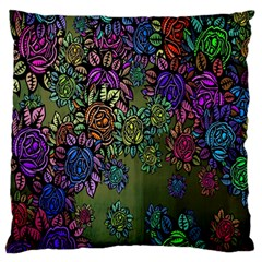 Grunge Rose Background Pattern Standard Flano Cushion Case (two Sides) by BangZart