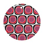 Wheel Stones Pink Pattern Abstract Background Ornament (Round) Front