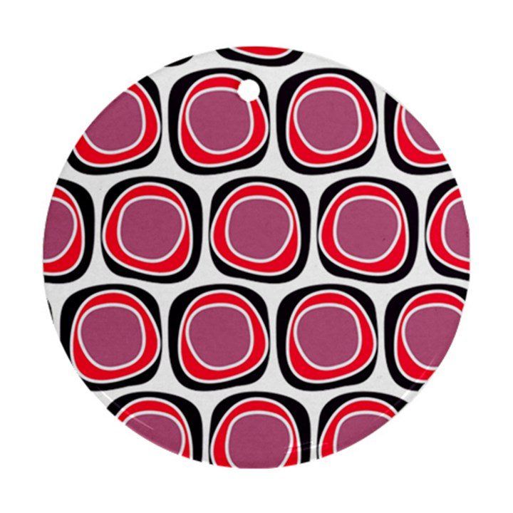 Wheel Stones Pink Pattern Abstract Background Ornament (Round)