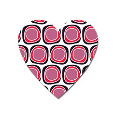 Wheel Stones Pink Pattern Abstract Background Heart Magnet by BangZart