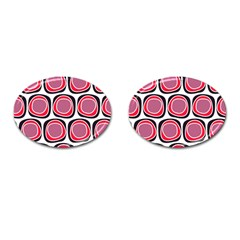 Wheel Stones Pink Pattern Abstract Background Cufflinks (oval) by BangZart