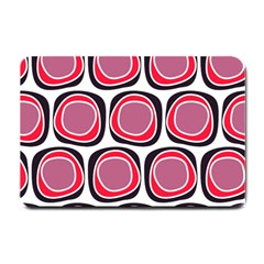 Wheel Stones Pink Pattern Abstract Background Small Doormat  by BangZart