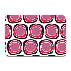Wheel Stones Pink Pattern Abstract Background Plate Mats by BangZart