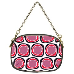 Wheel Stones Pink Pattern Abstract Background Chain Purses (one Side)  by BangZart