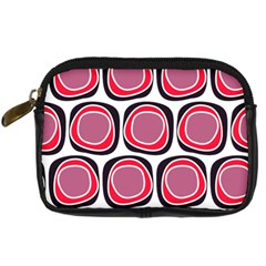 Wheel Stones Pink Pattern Abstract Background Digital Camera Cases by BangZart