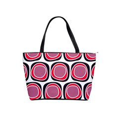 Wheel Stones Pink Pattern Abstract Background Shoulder Handbags by BangZart