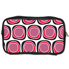 Wheel Stones Pink Pattern Abstract Background Toiletries Bags