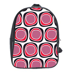 Wheel Stones Pink Pattern Abstract Background School Bags (xl)  by BangZart