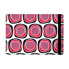 Wheel Stones Pink Pattern Abstract Background Ipad Mini 2 Flip Cases by BangZart
