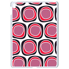 Wheel Stones Pink Pattern Abstract Background Apple Ipad Pro 9 7   White Seamless Case