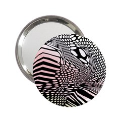 Abstract Fauna Pattern When Zebra And Giraffe Melt Together 2 25  Handbag Mirrors by BangZart