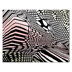 Abstract Fauna Pattern When Zebra And Giraffe Melt Together Rectangular Jigsaw Puzzl by BangZart