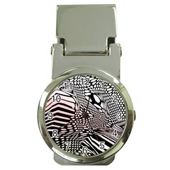 Abstract Fauna Pattern When Zebra And Giraffe Melt Together Money Clip Watches by BangZart