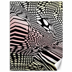 Abstract Fauna Pattern When Zebra And Giraffe Melt Together Canvas 36  X 48   by BangZart
