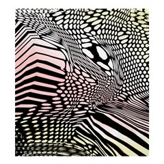 Abstract Fauna Pattern When Zebra And Giraffe Melt Together Shower Curtain 66  X 72  (large)  by BangZart
