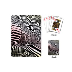 Abstract Fauna Pattern When Zebra And Giraffe Melt Together Playing Cards (mini)  by BangZart