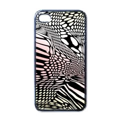 Abstract Fauna Pattern When Zebra And Giraffe Melt Together Apple Iphone 4 Case (black) by BangZart