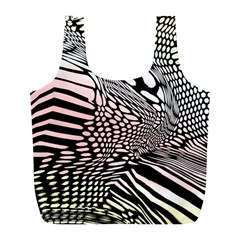 Abstract Fauna Pattern When Zebra And Giraffe Melt Together Full Print Recycle Bags (l)  by BangZart