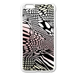 Abstract Fauna Pattern When Zebra And Giraffe Melt Together Apple Iphone 6 Plus/6s Plus Enamel White Case