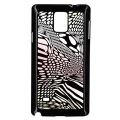 Abstract Fauna Pattern When Zebra And Giraffe Melt Together Samsung Galaxy Note 4 Case (black) by BangZart