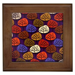 Colorful Trees Background Pattern Framed Tiles by BangZart
