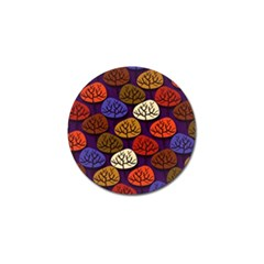 Colorful Trees Background Pattern Golf Ball Marker (4 Pack) by BangZart