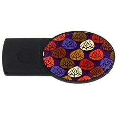 Colorful Trees Background Pattern Usb Flash Drive Oval (2 Gb) by BangZart