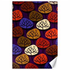 Colorful Trees Background Pattern Canvas 24  X 36  by BangZart