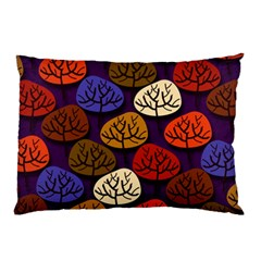 Colorful Trees Background Pattern Pillow Case