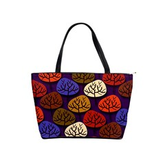 Colorful Trees Background Pattern Shoulder Handbags by BangZart