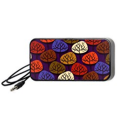 Colorful Trees Background Pattern Portable Speaker (black) by BangZart
