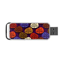 Colorful Trees Background Pattern Portable Usb Flash (two Sides) by BangZart