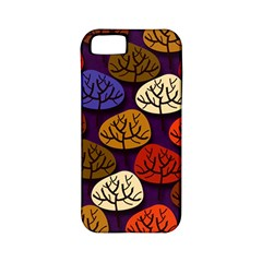 Colorful Trees Background Pattern Apple Iphone 5 Classic Hardshell Case (pc+silicone) by BangZart